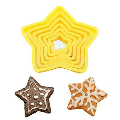 6PC Christmas Tree Cookie Cutters Star Shape Fondant Cake Biscuit Molds