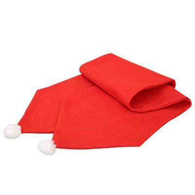 34X176CM Christmas Table Runner Mat Tablecloth Flag Home Party Decor Red