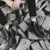 Men Leather Boots Work Shoes High Top Shoes Casual Shoes - BLACK
