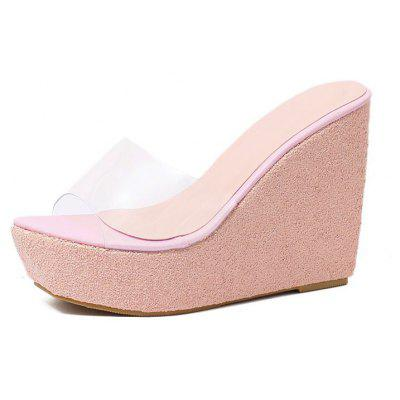 Women's Wedge Mule Shoes Concise Slippers