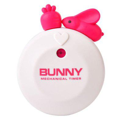 Cute Bunny Kitchen Timer 60 Minutes Mechanical Countdown Reminder