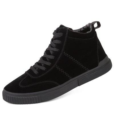 Men Fashion High Top Breathable Shoes Suede Casual Sneakers