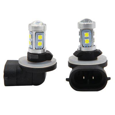 2PCS DC 12V 881 H27 6000K LED Foglight Bulb White Color Lightness