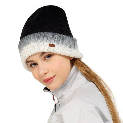VEPEAL Winter Unisex Outdoor Sports Hat Warm Color Matching Knit Pullover Cap