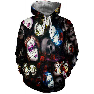 Sexy Woman Print Men's Hoodie Sweater