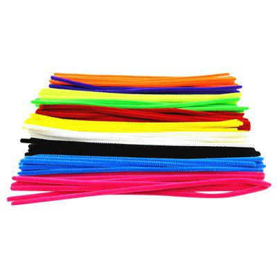 Colorful Chenille Materials Wool Stick 100PCS