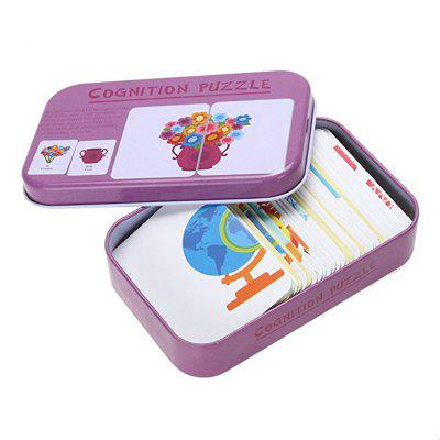 32pcs / Box Baby Learn English Pair Puzzle Cognitive Card Niemowlę
