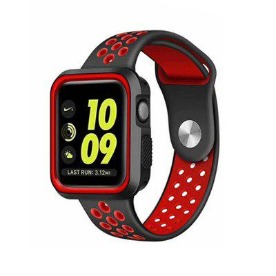 Dual Colors Soft Silicone Case +Watch Band For Apple Watch Series 3/2/1 38MM