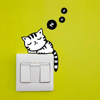 Lovely Cat Pattern Light Switch Sticker per la decorazione della camera da letto