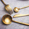 B20 SUS304 Stainless Steel Flatware Set PVD Golden Color Plated Satin Finishing - GOLD