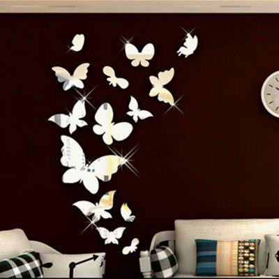 Fashion mirror Acrylic 3D Dutterfly Stereoscopic Wall Sticker