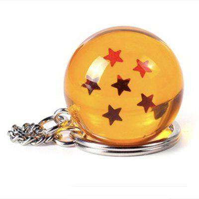 Cartoon Keychain 3D Crystal Ball Keychain Series Toy Gift Keychain (4 Stars)
