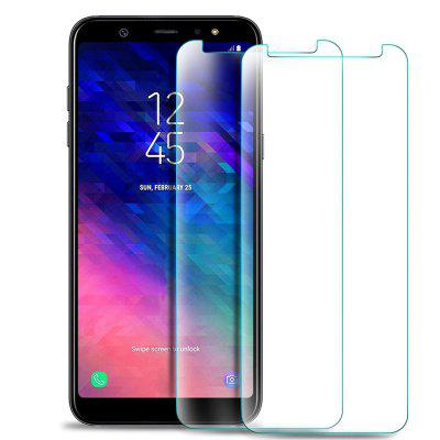 2 Pack HD Screen Protector Tempered Glass for Samsung Galaxy A6 Plus 2018