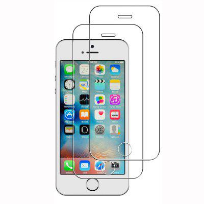 2PCS HD Screen Protector Full Cover tvrdé sklo pre iPhone 5 / 5S / SE