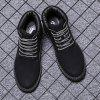 Men Winter Classical High-Cut Fashion Solid Lace Up Worker Boots - BLACK