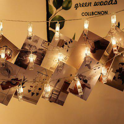 Ablest Set of 10 LED Photo Clip Clothespin Fairy String Lights Warm White