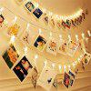 Ablest Set of 10 LED Photo Clip Clothespin Fairy String Lights Warm White - TRANSPARENT