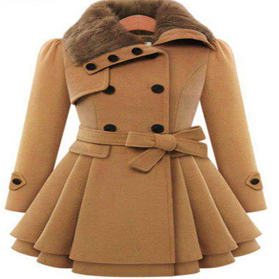 Brown Thickened Lady'S Coat