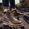 Men Boots  Male Leather Work Shoes  Boots - BROWN