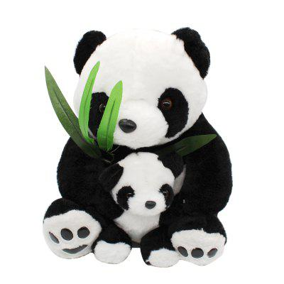Bamboo Leaf Mother and Son Panda Plush Toy Doll