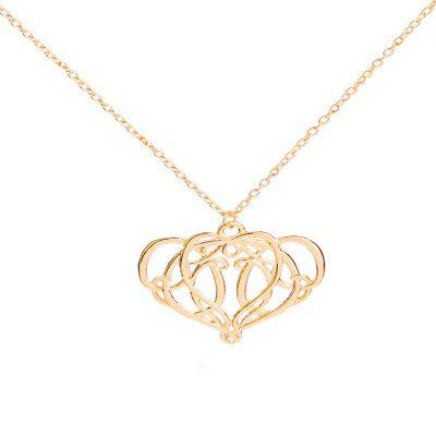Lady Gold Fashion Personality Tree Pendant Alloy Necklace