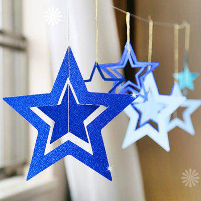 Party Decoration 7pcs/set Hollow Five-pointed Star Ornaments Christmas