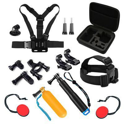 Action Camera Accessories Set Monopod for Go Pro Hero 7 / 6 / 5 / 4 / SJCAM