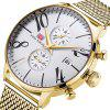 MINI FOCUS Men Top Brand Luxury Famous Male Clock Quartz Wrist Watch - GOLD