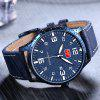 MINI FOCUS Hommes Ultra-mince Quartz Sports Analog Date Clock Montre-bracelet militaire - BLEU