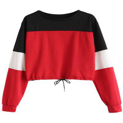 Women'S Long Sleeve Loose Color Garment