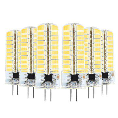 6PCS YWXLIGHT Dimmable G4 7Watts 80LED SMD 5730 600-700 LM Corn Bulbs