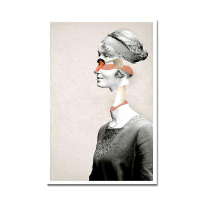 DYC Elegant Women With Mask Print Art