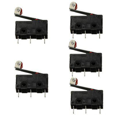 5 x Mini Microswitch SPDT Roller Lever