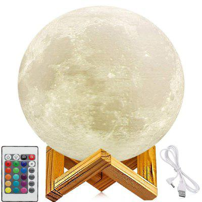 3D Printed Remote Control 16 Colors Moon Style Night Light