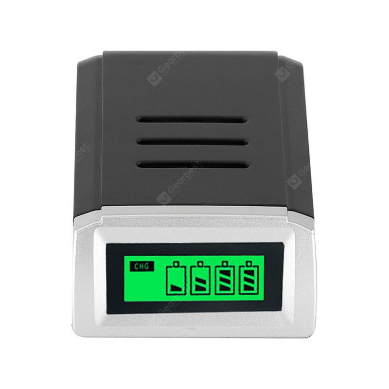 4 Slots Intelligent LCD Battery Charger for Rechargeable Batteries