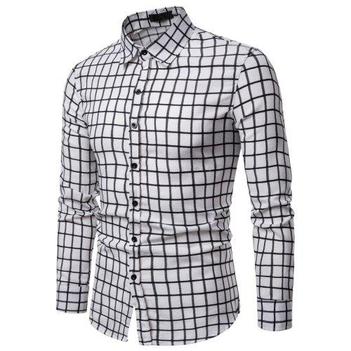 60275094f08 Men s Small Plaid Casual Fashion Wild Long-Sleeved Shirt -  22.11 Free  Shipping