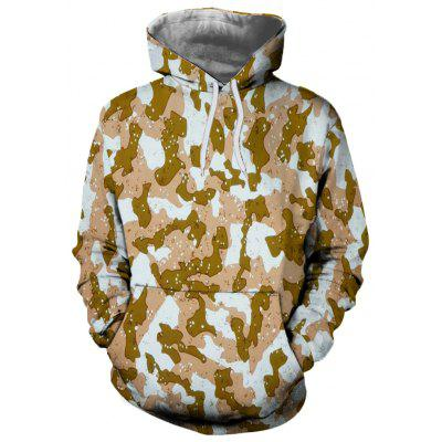 3D Winter Fashion Camouflage Print Mens Hoodie