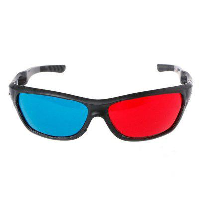 3D Glasses Universal White Frame Red Blue Anaglyph For Movie Game DVD Video TV