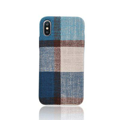 Simple Plaid Cloth Pattern Back Cover for iPhone 7 Plus / 8 Plus / X / XS MAX