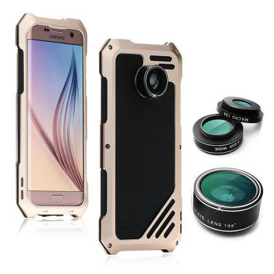Water-Resistance Metal Case with 3 Camera Lens for Samsung Galaxy S7 / S7 edge