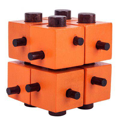 Mysterious Cube Kongming Lock Brain Teasers IQ Toy