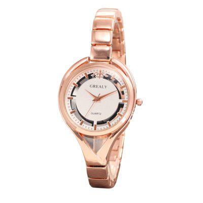 GREALYFemale Alloy Bracelet Watch Personality  Hollowed out Decorative Watch