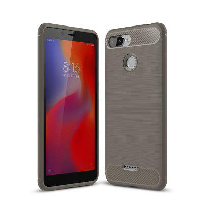 Arbon Fibre Anti-Fall Cell Phone Case for Xiaomi Redmi 6
