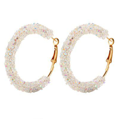 Exaggerated Ring Crystal Earrings