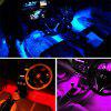 ZDM 4 pcs 9inch Car USB LED Strip Lights 72 LED RGB Music Car Interior  Lights - MULTI