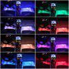 ZDM 4 pcs 9inch Cool Car filling LED Strip Light Decoration 72 LED RGB Music Car Interior Lights - MULTI