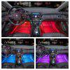 ZDM 4 pzas 9 pulgadas de relleno de auto fresco LED Strip Light Decoration 72 LED RGB Music Car Interior luces - MULTICOLOR