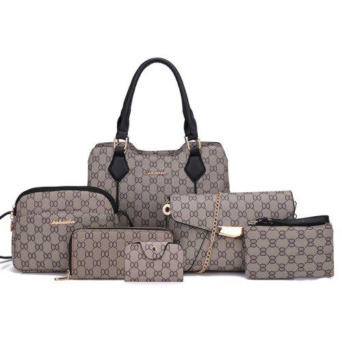 90dbec776 6 Pieces of Embossed Buckets Curved Buckets Ladies Shoulder Bags ...