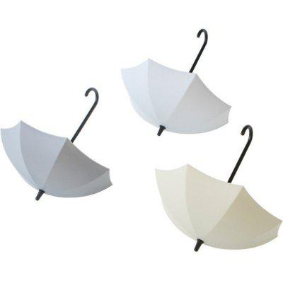 3PC Creative Umbrella Decorative Hooks  Small Objects Storage Holder