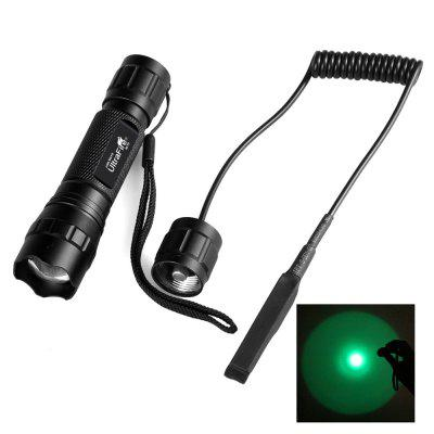 UltraFire 501G XPE 395 Wavelength Green Focusing Hunting Flashlight + Switch